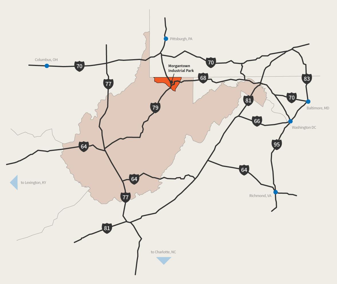 Interstate Access Map
